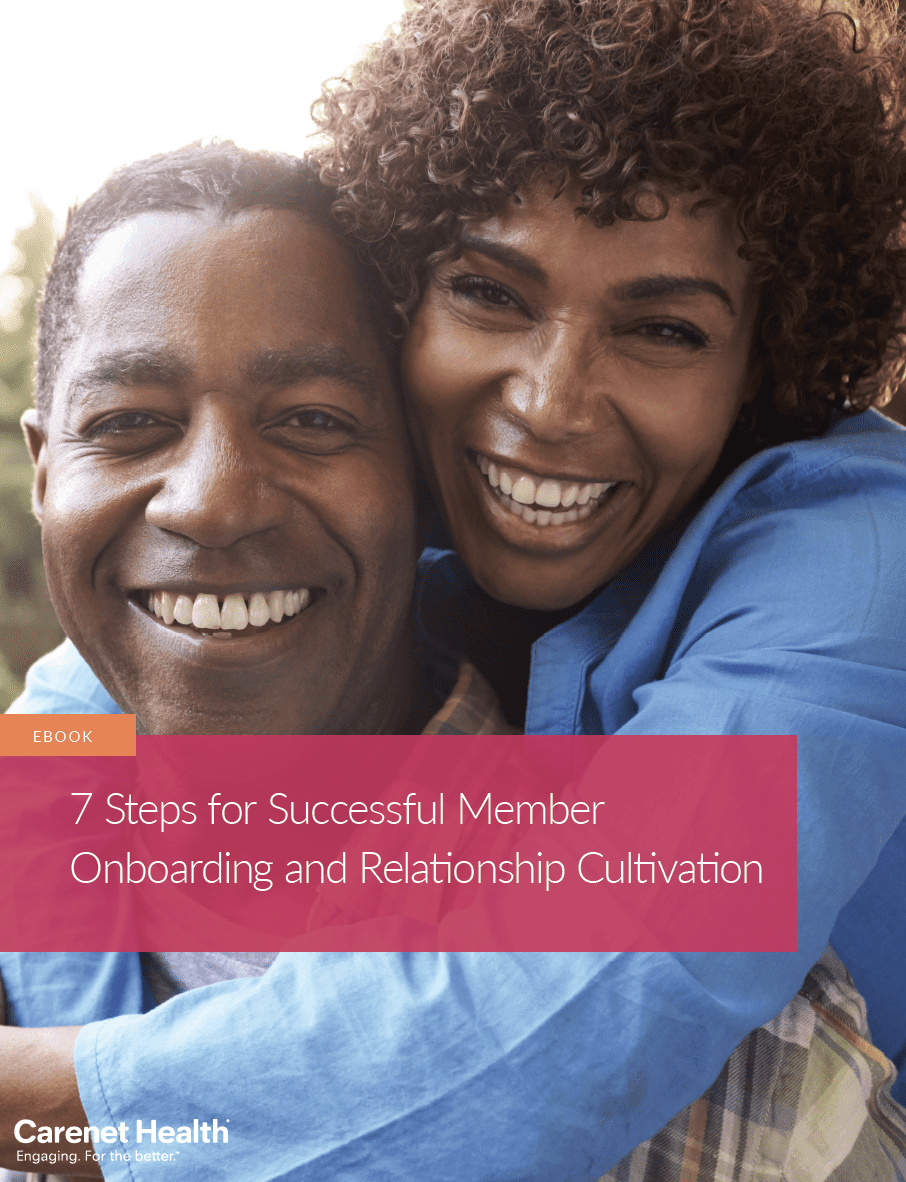 Ebook cover: 7 Steps for Successful Health Plan Member Onboarding and Relationship Cultivation