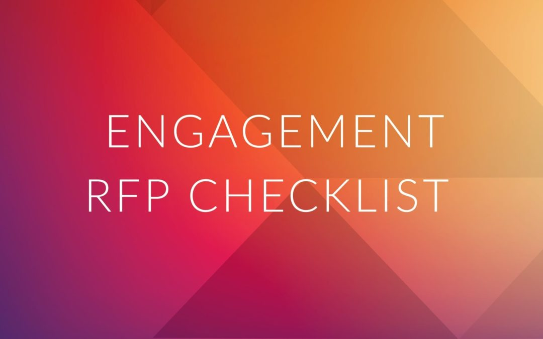 Quick RFP Checklist for Health Plan Member Engagement Programs