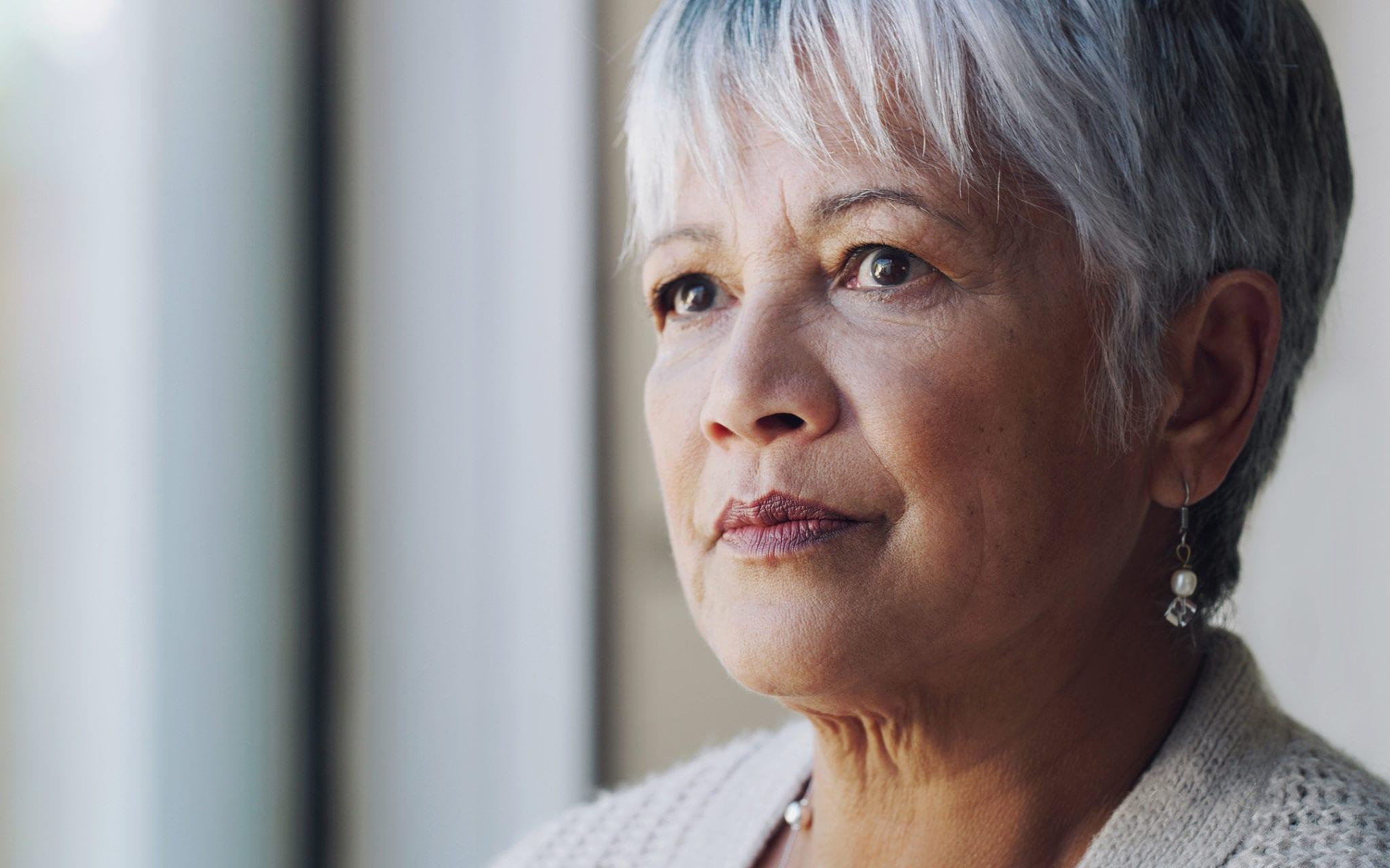 Older woman experiencing behavioral health crisis
