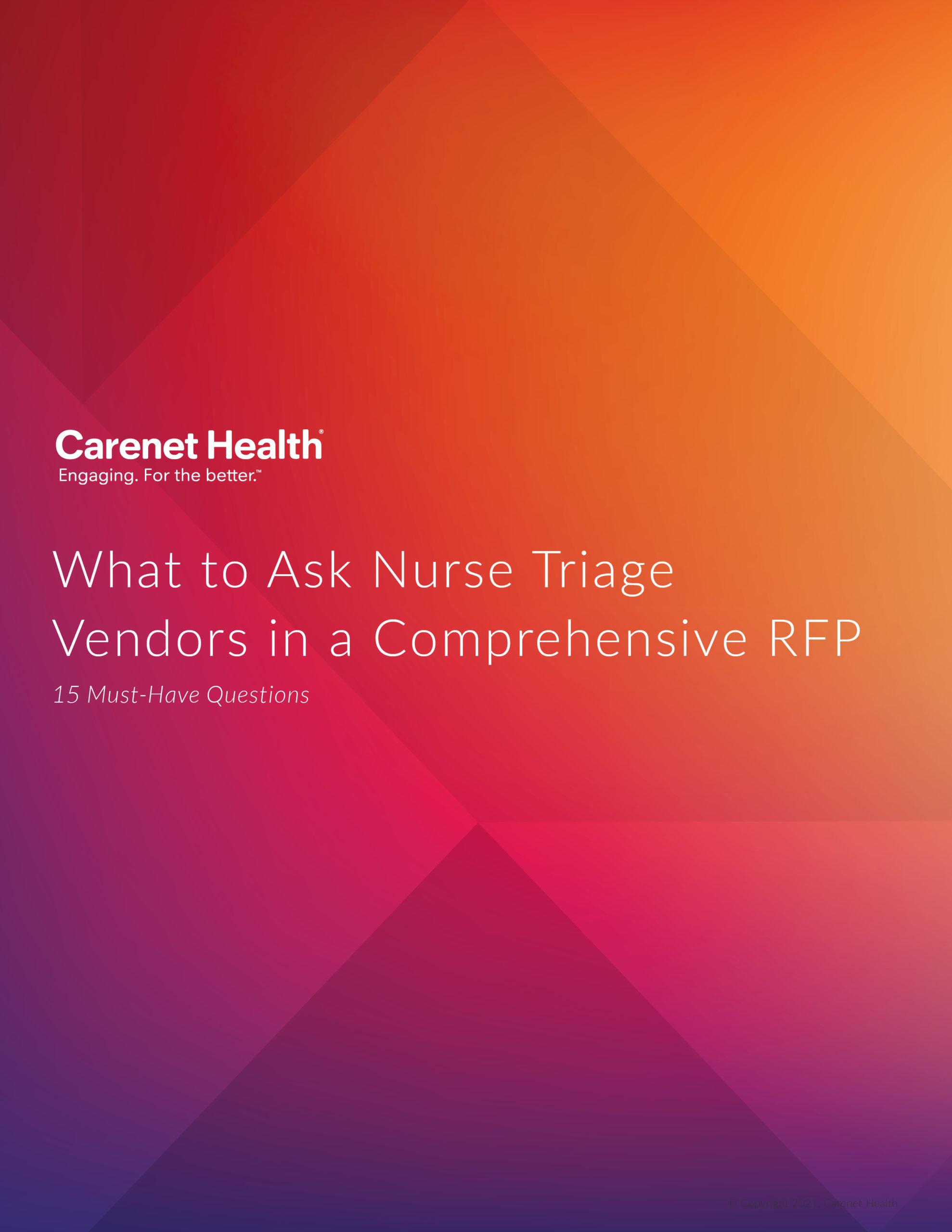 Nurse Triage RFP